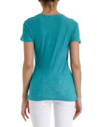 James Perse Blue Bruin Cotton Tshirt