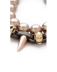Joomi Lim - Metallic London Calling Skull Bracelet - Lyst