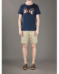 Maison Kitsuné - Blue Fox Ears Tshirt for Men - Lyst