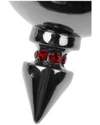 Mawi Metallic Hematiteplated Crystal Necklace
