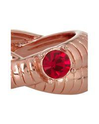 Mawi Pink 18karat Rose Goldplated Swarovski Crystal Ring
