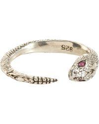 Pamela Love Metallic Ruby Serpent Ring