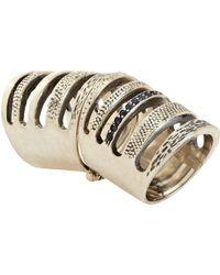 Pamela Love Metallic Sapphire Double Cage Ring