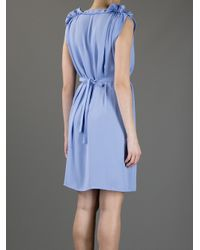 See By Chloé Purple Pleated Shoulder Dress