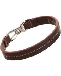 Tod's - Brown Leather Marina Bracelet for Men - Lyst