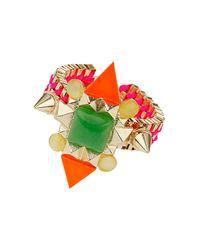TOPSHOP | Multicolor Bright Stone Bracelet | Lyst