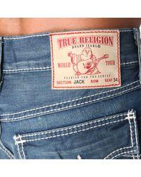 True Religion | Blue Ricky Straight Mens Jean for Men | Lyst