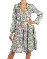 Yvonne S | Green Printed Cotton Gauze Dress | Lyst