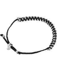Alexander McQueen - Metallic Ball Chain Friendship Bracelet - Lyst