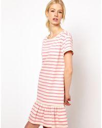 Boutique by Jaeger Pink Drop Waist Jersey Dress