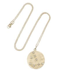 Brooke Gregson | Metallic Capricorn 14-karat Gold Diamond Necklace | Lyst