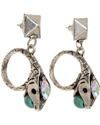 Fallon - Metallic Turquoise Crystal Rattlesnake Pyramid Earrings - Lyst
