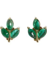Finn | Green Leaf Stud Earrings | Lyst