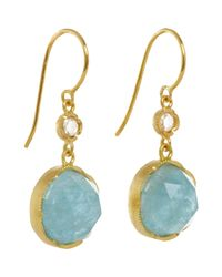 Irene Neuwirth Blue Gemstone Double-drop Earrings