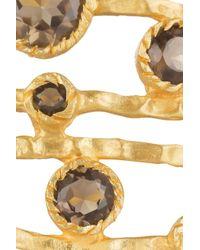 Kevia Metallic 22karat Goldplated Quartz Cuff
