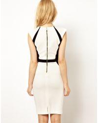 River Island Black V- Neck Bodycon Dress