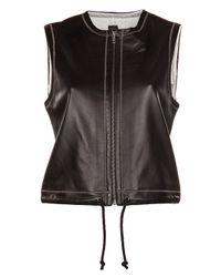 R + R Surplus | Black Leather Vest | Lyst