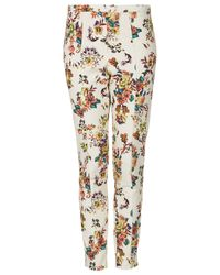 TOPSHOP | Multicolor Pixelated Highwaist Trousers | Lyst