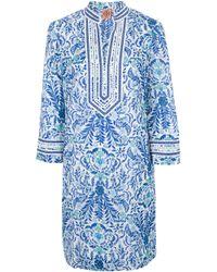 Tory Burch White Printed Tunic Dress