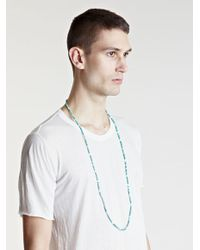 Unused | Blue Mens Turquoise Shell Necklace for Men | Lyst