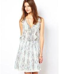 Zadig & Voltaire Blue Printed Cotton Voile Dress