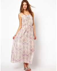 Zadig & Voltaire Pink Zadig and Voltaire Printed Cotton Voile Maxi Dress