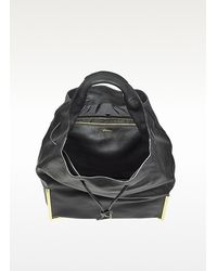 3.1 Phillip Lim - Black Scout Drawstring Leather Hobo - Lyst