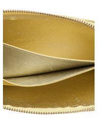 Vivienne Westwood Yellow Flat Zip Wallet