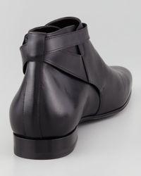 Saint Laurent Jodhpur Cropped Boot Black for men