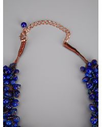 Twist 'n' Scout - Blue Beaded Necklace - Lyst