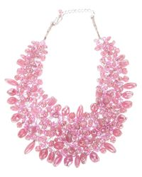 Twist 'n' Scout | Pink Beaded Necklace | Lyst