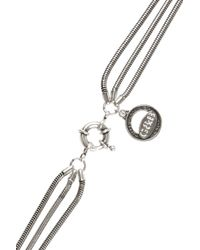 Giles & Brother - Metallic Long Archer Multichain Silverplated Necklace - Lyst