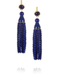 Kenneth Jay Lane | Metallic Tassled Resin Earrings | Lyst
