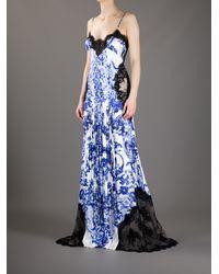 Roberto Cavalli | Blue Printed Dress | Lyst