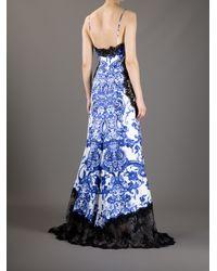 Roberto Cavalli - Blue Printed Dress - Lyst