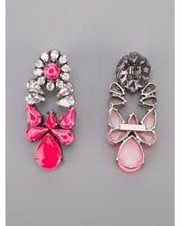 Shourouk | Pink Mia Earrings | Lyst