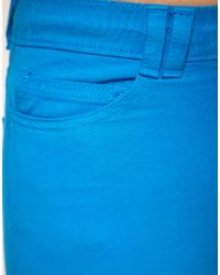 American Apparel - Blue Coloured High Waist Jeans - Lyst