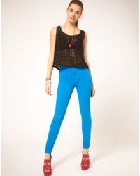 American Apparel Blue Coloured High Waist Jeans