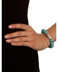 BaubleBar - Blue Marbled Turq Bar Bracelet - Lyst