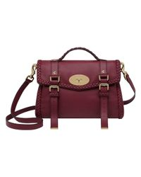 Mulberry - Purple Oversized Alexa with Woven Trim for Men - Lyst