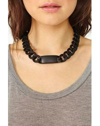 Nasty Gal - Black Dark Identity Necklace - Lyst