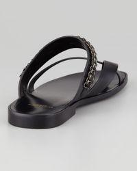 Saint Laurent Black Mens Chaintrim Toering Sandal for men