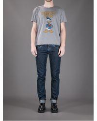 Dolce & Gabbana Gray Donald Duck Printed Tshirt for men