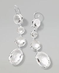 Ippolita - White Rock Candy Clear Quartz Drop Earrings - Lyst