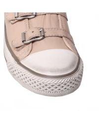 Kurt Geiger Natural Lizzy Hi Top Trainer Shoes