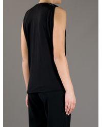 Lanvin Black Embellished Bow Tank Top