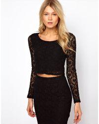 Love Black Crop Top in Lace