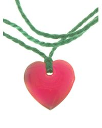 Aurelie Bidermann - Green Heart Charm Bracelet - Lyst