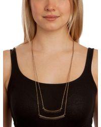 BaubleBar | Metallic Gold Spike Tier Necklace | Lyst