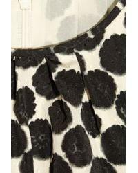 Giambattista Valli Black Silk-chiffon Giraffe-print Top